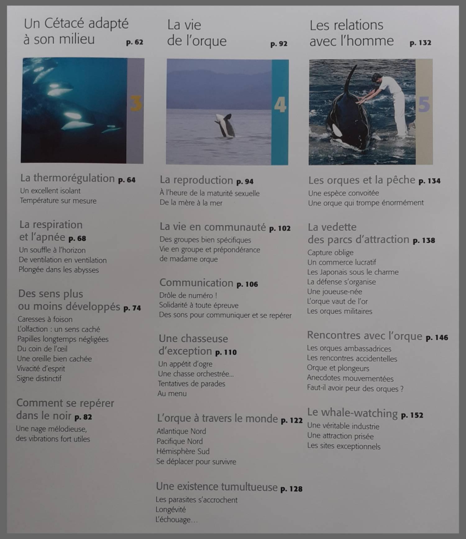 Dans le sillage des orques sommaire 2